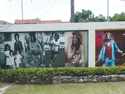 Portraits of Bob-Marley as decoration on the wall of Bob-Marley Museum in Kingston, Jamaica.                                                            PHOTO: Kabir ALABI GARBA