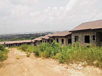 The abandoned housing estate in Delta State, recently