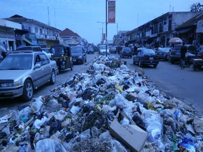 A heap of refuse on the street of Jos