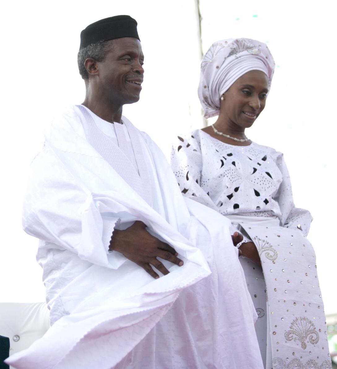 GOODLUCK, OSINBAJO AND WIFE
