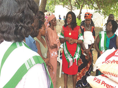 IN response to afflictions of women, men and children resulting from insurgency in the North Eastern part of the country, the Medical Women's Association of Nigeria (MNAN) led by its National President Dr Valerie Obot has visited the Internally Displaced Camp (IDP) at new Kuchingoro in FCT to donate food items, clothing and other relief materials worth thousands of naira to victims of staying at the camp.