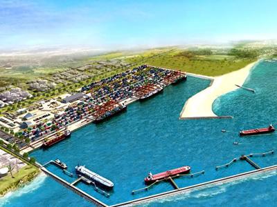 A model of  Lekki Seaport