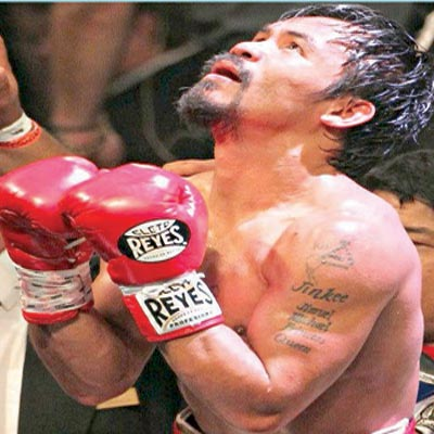 God, give me this day — Pacquiao seems to say
