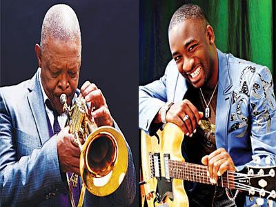 Hugh Masekela (left) and Kunle Ayo (Right)