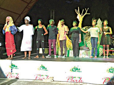 The protégés taking a bow after the performance… in Lagos