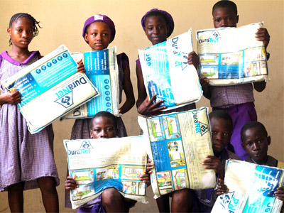 Some of the beneficiaries of the Kaymu/Slum2School 'Net A Child' campaign