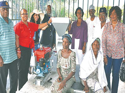 Executives of the Rotary Club of Lagos handing over the factory to Itamarun community
