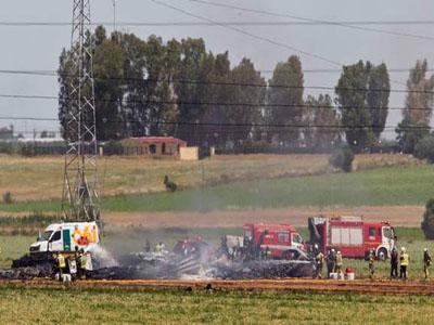 Spanish crashed plane. Photo; independent