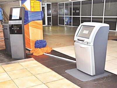 Self check-in kiok and e-gate at MMA2