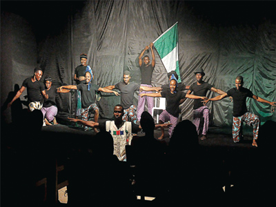 A scene from the play Dear Country, staged last week at Terra Kulture, Victoria Island, Lagos, with a repeat performance today at the same venue