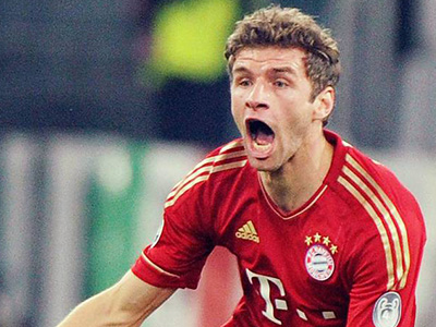 Bayern Munich's star forward, Thomas Muller.