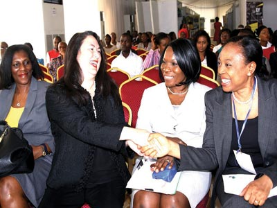 MD, Accenture, Mrs. Juliet Anammah (left); CEO & Co-Founder, WeConnect International, Mrs. Elizabeth Vazquez; Executive Director, Exxon Mobil, Mrs. Oluseyi Afolabi; and Manager, Procurement, Wellwork/ Completions Category, Exxon Mobil, Mrs. Judith Mbonu, during the WEConnect International Exhibition and Matchmaker Day in Lagos.