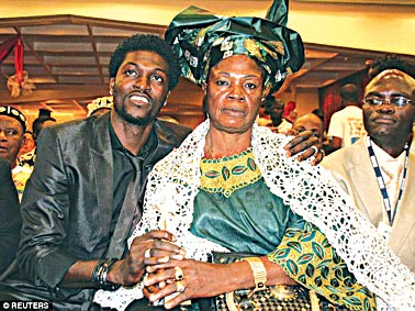 Adebayor denied claims he kicked his mum out of his house back in November