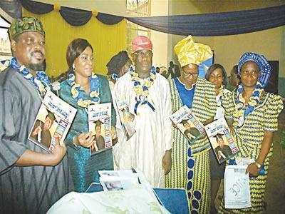 Chairman of the event, Prof. Akeusola, Ministry of Women Affairs and Poverty Alleviation, Mrs. Omobolanle Ogunmola, Provost Adineran Ogunsanya College of Education Ijaniki, Bashorun Olalekan Wasiu, representative of Dr. Mrs. Okinade Atinuke, (Principal Lecturer Adeniran Ogunsanya College of Education) Dr. Dorcas Adefemi Taire (AOCOED) and  chairperson women in College of Education (WICE) Mrs Egboh FAsilat Bolaji at the launch of AOCOED WICE magazine in Ijaniki-Lagos.