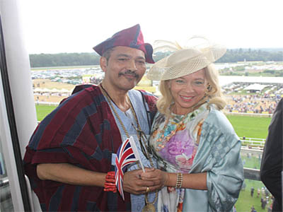 Olorogun Oscar Ibru and wife, Wanda