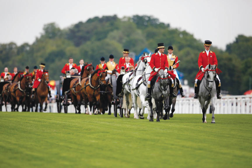 The royal procession                                                                                                                                                Photo by Alan Crowhurst/Getty Images for Ascot Racecourse
