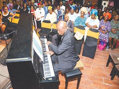 Ayo bankole Jr. on the piano