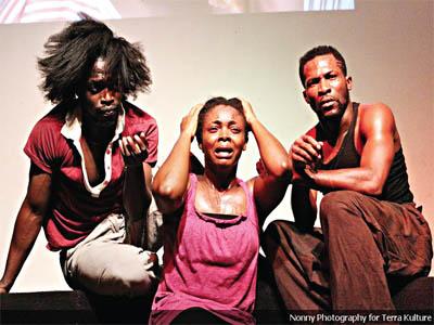Rehearsal scenes from the play Batonga billed to be performed at Bishop Howells Memorial Grammar School, St. Finbars Road, Akoka-Bariga, Lagos