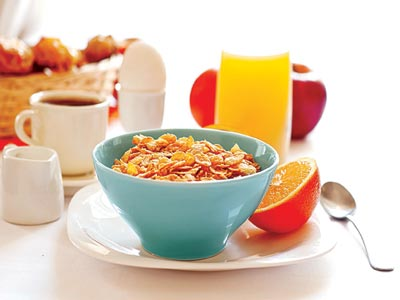 Heathy breakfast .... Skipping breakfast may lead to one or more risk factors, including obesity, high blood pressure, high cholesterol and diabetes, which may in turn lead to a heart attack over time.                  PHOTO CREDIT: google.com