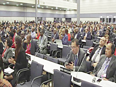 Climate negotiators at the conference in Bonn