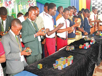A cross-section of participants at the competition.