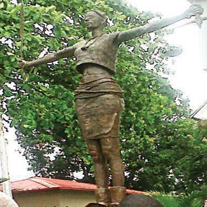 The Justice and Culture statue at the Faculty of Law building, University of Lagos