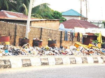 Uncollected refuse at sections of LokojaPHOTO; JOHN AKUBO