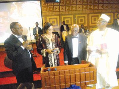 Funsho (left), Daisy, Prof. Alaba Akinsete and Danjuma at the occasion
