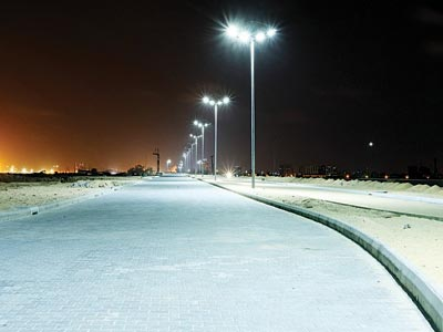One of the roads newly completed within the Eko Atlantic City project in Lagos
