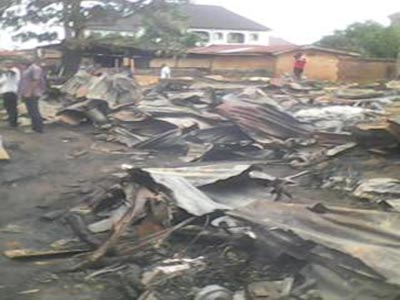 The burnt shops