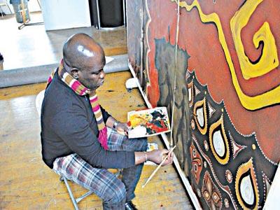Ikwuemesi in his studio