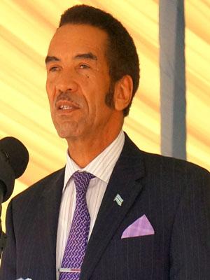 Presidential Standard of Botswana, Ian Khama. Photo; wikimedia