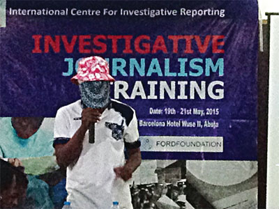 Aremeyau Anas… the masked journalist at the event