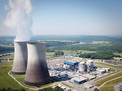 A nuclear plant