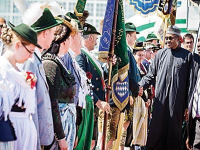 President Muhammadu Buhari arrives Munich, Germany for the G7 summit…yesterday.