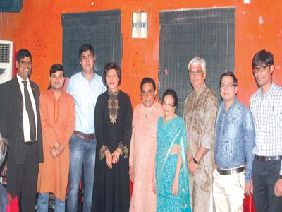 President, Rotary Club of Lagos, Palmgrove Estate, Ramesh Biswal (left), Dr. Bhuvesh Patel, Dr. Hemant Patel, Publisher of The Guardian, Lady Maiden Alex-Ibru, industrialist, Narabhai G. Patel, his wife, Savitriben, leader of the medical team/Secretary, Rotary Eye Institute, Yogesh Naik, Shiva Ruburi and Motibhai Patel at a dinner in Lagos to honour the doctors and medical staff of Rotary Eye Institute, organised by the rotary club, in collaboration with Indo Eye Care Foundation and sponsors of 2015 Eye Surgeries Camp…on Wednesday             PHOTO: OSENI YUSUF