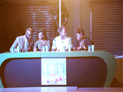The judges: Mai Atafo, April By Kumbi, Kelechi Amadi Obi and Rhema Akabuogu at the event in Tinapa.