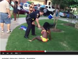 Viral video shows police pulling gun on teens' pool party