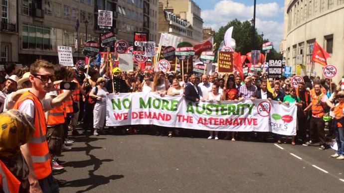 anti austerity march