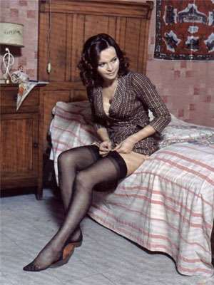 Italian actress Laura Antonelli, known for her erotic roles and love affair