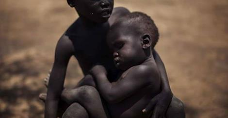sudan starving children
