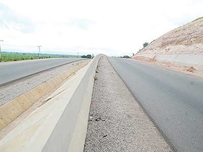 Completed Abuja/Lokoja road towards Lokoja axis