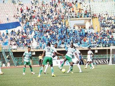 Enyimba defeated Dolphins of Port Harcourt to retain the Federation Cup last season. The 'Peoples Elephant' will meet Remo Stars in a round of 32 clash in Benin…today. PHOTO: FEMI ADEBESIN-KUTI