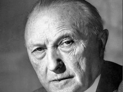 German Chancellor Konrad Adenauer