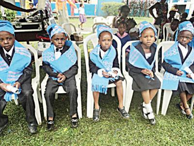 Pupils of Ade-Adegbite during their graduation