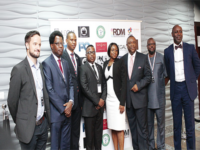Mark Slade (left); Barr. Alex Mouka, former chairman NBA Lagos branch, Azubuike Ezenwoke Barr. Tolu Aderemi, Mrs. Mobola Obileye, Director, thelearnefriends.com, Chief Bolaji Ayorinde (SAN), Dele Nedd and Barr. Femi Ojomu.