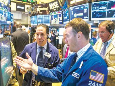 Stockbrokers on New York Exchange