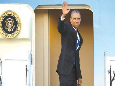 US President Barack Obama at the Kenyatta International Airport in Nairobi… yesterday