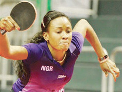 Funke Oshonaike is in the semifinals of the ITTF African Senior Cup holding in Yaoundé, Cameroun.