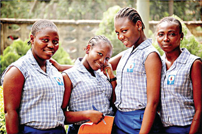 Some students of Queens College, Lagos